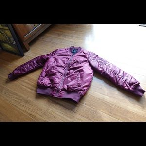 south pole red MA-1 puffer bomber men small